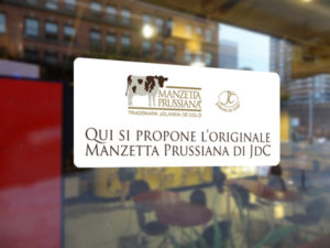 vetrofania Club Manzetta Prussiana